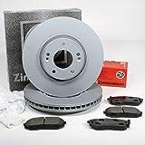 Autoparts-Online Set 60015939 Zimmermann Bremsscheiben 305 mm Coat Z Bremsen Bremsbeläge für vorne die Vorderachse