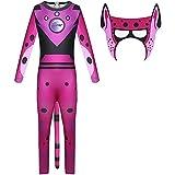 LangCher Kostüm für Kinder Jungen Wild Kratts Kostüm Tiere Supermacht Jumpsuit Maske Cosplay Karneval Halloween Kostüm (Color : Pink, Size : 110)