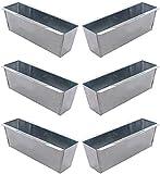 Novaliv Pflanzkasten verzinkt für Palettenmöbel Blumenkasten Balkonkasten für Europlatten Pflanzgefäß, für Blumenregal (Silber, 6)