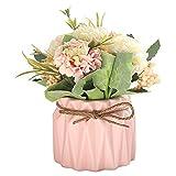 Mini-Kunstpflanzen-Set mit künstlichen Blumen, künstliche Pflanzen für Zuhause, Schreibtischpflanze, Innendekoration, Tulpen-Imitation, Rosa