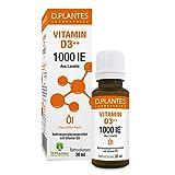 Laboratoire D.Plantes® Vitamine D3⁺⁺ Öl 1000 IE, Tropfen, Nahrungsergänzungsmittel, Qualitativ hochwertige Inhaltsstoffe, Sonnenvitamin, 20 ml ± 476 Tropfen