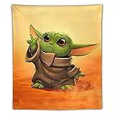 Star-Wars-Yoda Wandteppich, Hippie-Wandteppich für Schlafzimmer, Ästhetisch, Anime-Wandteppich, Wandkunst, Heimdekoration für Wohnzimmer, Geburtstagsparty-Geschenk, 127 x 152,4 cm
