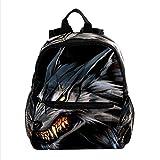 ASDFJKL Böser Wolf Rucksäcke für Jungen und Mädchen, geeignet für Schule und Reise, bevorzugt von Eltern