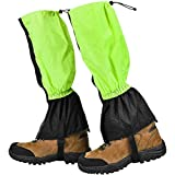 Yissma 1 Paar wasserdichte Gamaschen Wandergamaschen Schneegamaschen Jagdgamaschen Regengamaschen Außengamaschen zum Wandern Bergjagd Skifahren