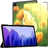 Hülle für Samsung Galaxy Tab A7 10,4-Zoll-Tablet 2020 (sm-t500 / t505 / t507), Blumenmohn blüht auf Hintergrundmohnblumen Mehrwinkel-Standabdeckung mit automatischem Aufwachen/Schlaf