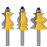 3 STÜCK 8mm Schaft Verpackung & Basisformungsrouter Bit Set CNC Messer Linie Cutter Tenon Holzschneider für Holzbearbeitungswerkzeuge