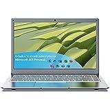 Jumper Laptop 13.3 Zoll Notebook 4GB RAM 64GB eMMC Windows 10 Computer PC Intel Celeron CPU Microsoft Office Dualband WLAN USB 3.0 Unterstützt 256GB TF Karte und 1TB SSD Erweiterung