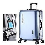 Koffer PC4 Rollen Universal Rollen ABS Hartschale Koffer mit USB-Ladeanschluss Leichter Handgepäckkoffer