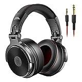 Professionelle Studio-Kopfhörer DJ mit Mikrofon über Kopfhörer mit Ohrkabel, HiFi-Monitore, faltbare Spiele-Kopfhörer für PC für mobile Spiele,