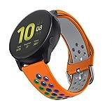 ISABAKE 20mm Armband Kompatibel mit Galaxy Watch Active / Active 2 / Galaxy Watch 42mm / Gear Sport / S2 Classic / Huawei Watch 2, Quick Releae Ersatz Soft Smart Silikon Smartwatch Band
