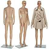 KingSaid Schaufensterpuppe Weiblich Mannequin Frau 175cm 360° Beweglich