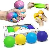 Squeeze Stress Ball Spielzeug Farbwechsel, Elastische Konstruktion Sensorische Bälle (zufällige Farben) Anti Stress Relief Balls Stressabbauspielzeug Spaßspielzeug für Kinder Erwachsene (1 Stück)