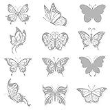 36 Stück Schmetterling Anti-Kollisions-Fenster Haftet Aufkleber, Fensteraufkleber Abziehbildern an, Wandsticker Wandtattoo Wanddeko für Wohnung, stickerdecal Raumdekoration