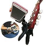 Handy-Halterung für Gitarre, Ukulele, Flex-Klemmhalterung mit verstellbarem Clip, universelle Halterung für Action-Kamera/Digitalkamera/Smartphone