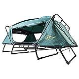 Plan Re feldzelt+ Feldbett mit Zelt 2 Personen auf Beinen Wasserdicht durch doppelte Außenhaut Camping Zelt Festival Karpfenliege 2 Personen Mückensicher durch Fliegengitter inkl Isomatte