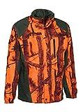 4ADVENTURES PERCUSSION Jagdjacke Stronger GhostCamo Blaze & Black robste wasserdichte Jacke für Durchgehschützen, Treiber, Hundeführer (XL)