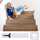 DanceWhale Antirutsch Treppenstufen Transparente klebeband, 10cm x 10m Selbstklebend Stufenmatten Rutschfest Streifen für Treppen&Fußboden, Sicherheit für Kinder, Älteste und Haustiere