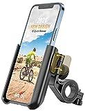 Grefay Handyhalterung Fahrrad Universal Motorrad Handyhalter 【1S Schnelle Demontage】 Handyhalterung für Rennrad MTB Scooter Mit 360 Drehen für 3,5-7,0 Zoll Smartphone