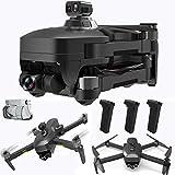 XNJHMS Gimbal Drohne mit EIS Anti-Shake 4k UHD Kamera für Erwachsene 5GHz Live Video Rc Quadcopter Dual Kameras DREI Batterien Tragetasche