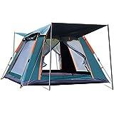 Wsaman 2-3 Personen Camping Campingzelt Pavillon Anti-UV Familienzelt, Outdoor Trekking Portable Doppelwandig Schnellaufbauzelt mit 2 Eingängen für Festival Outdoor-Strand Tents,Grün