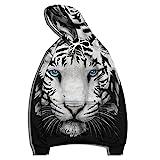 XDJSD Herren Sweatshirt Kapuzenpullover Große Herrenjacke Tiger Printed Herren und Damen Lose Kapuzen Baseball Uniform Pullover Pullover Hoodie