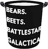 Bears Beets Battlestar Galactica Dwight Schrute The Office Logo Faltbare Wäschekörbe Oxford Tuch Wasserdichte Aufbewahrungsboxen Körbe Haushalt Finishing Supplies mit Griffen