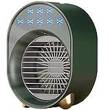 Tragbarer Luftkühler Mini USB Ventilator Klimaanlage Luftbefeuchter geeignet für Home Office Zimmer Desktop Klimaanlage Klimaanlage Luftreiniger Grün