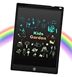EooCoo LCD Schreibtafel mit Bunt Bildschirm 12 Zoll, Löschbare Elektronische Memoboard für Zeichnung, Berechnung, Spielzeug für 4-12 Jahre Mädchen/Jungen, Schwarz