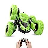 Ferngesteuertes Auto, 4WD RC Auto-Fernbedienung, 360° drehbar, RC Stunt Car, 1:28 / 2,4 GHz, ferngesteuertes Auto für Kinder, Spielzeug, grün (Batterie nicht im Lieferumfang enthalten)