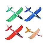 SomeTeam Kinder Schaum Flugzeug, Styroporflieger Flugzeuge Modell, Outdoor Sport Spiel Spielzeug, Segelflugzeug, Leichtflugzeug Hand werfen, Wurfgleiter für Kinder Jungen Mädchen (4 Stuck B)