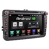 XOMAX XM-11GA Autoradio passend für VW, SEAT, Skoda mit Android 10 I 8 Zoll / 20,3 cm Touchscreen I GPS Navigation I DVD, CD, USB, SD I Support: WiFi 4G, DAB+, OBD2 I B