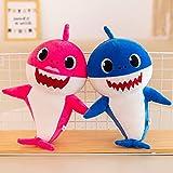 Plüschtier 2pcs Baby Singing Plüschhaie Soft Music Sound Puppe Gefüllter Plüsch Tierhai Mit Leichtem Spielzeug Singen Englisches L