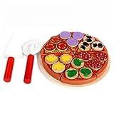 ponny Pizza-Spielzeug-Set aus Holz mit Spatel und Schneider für Kinder, zum Spielen