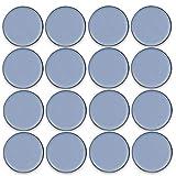 Filzada® 16x Teflongleiter Selbstklebend -Ø 50 mm (rund) - Profi Möbelgleiter/Teppichgleiter PTFE (Teflon)