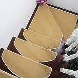 Treppenstufe Stufenteppich, 7er Pack Antirutschstreifen Treppe Set Anti Rutsch Selbstklebende Streifen Rutschschutz Treppenstufen Matten Für Treppen Außen Und Innen khaki-100cm