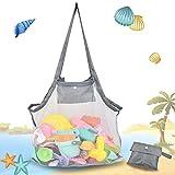 Tasche sandspielzeug kinder, Strandtasche Strandspielzeug Tasche, Strandtasche Strandspielzeug,für Familie Urlaub,Zusammenklappbar, sandkasten spielzeug,strandspielzeug,buddelspielzeug(45*45cm, Grau)