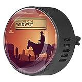 Josid Auto-Lufterfrischer, Wilder West, Cowboy, Aromatherapie-Diffusor, Auto-Clip, Geschenk-Dekoration, 40 mm, 2 Stück