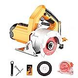 HIMNA PETTR 2600W Elektrische Kreissäge, Schnittwinkel 45 ° und Tiefe 0~35mm, Mini Handkreissäge mit Hochleistungsmotor für Holz, Stein, Keramikfliesen, Metallfliesen