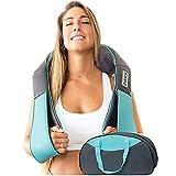 Invospa Massagegerät mit Wärmefunktion für Schulter Nacken Rücken, Nackenmassagegerät Shiatsu Elektrisch Massager mit 3 Einstellbaren Geschwindigkeiten zu Hause Büro