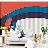 Guyuell 3D-Tapete Für Wände Bunte Gestreifte Vlies-Tapeten Retro Shutter Shape Wandbild Schlafzimmer Wohnzimmer Dekorative Tapete-200X140Cm