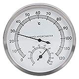Nawxs Sauna-Zimmer-Thermometer und Hygrometer-Metallschalen-Dampfraumzubehör Innen- und Außenthermometer