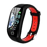 Tipmant Fitness Armband mit Pulsmesser Blutdruckmessung Smartwatch Fitness Tracker Wasserdicht IP68 Fitness Uhr Schrittzähler Pulsuhr Sportuhr für Damen Herren Kinder ios iPhone Android Handy (Rot)
