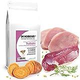 DOGBOSS Trockenfutter speziell für Welpen (2-12 Monate) Kleiner Rassen   getreidefreie Rezeptur (Truthahn mit Ente, 2 kg)