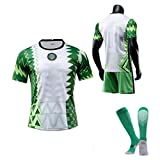 CFJJH Herren Football Trikot 2021 Nigeria Home Jersey Lghalo 9 Mikel 10 Lwobi 18 Awaziem 20 Fans Jersey, Fussball Spiel Trikots, Top Shirt Shorts Socken, Sportwear blank-S
