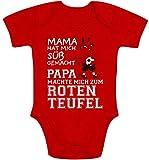Shirtgeil Kaiserslautern - Papa machte Mich zum Roten Teufel Baby Body Kurzarm-Body 6-12 Monate Rot