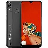 Blackview A60 Pro Smartphone ohne Vertrag Günstig 4G - 6,1 Zoll 3GB + 16GB, 256GB erweiterbar 4080mAh Akku, 8MP+5MP Kamera Dual SIM Handy - Schwarz