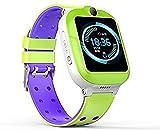 TCHENG 4G Smart Watch Kid Smartwatches Baby wasserdichte Gesicht Entsperren Sprachchatuhr Notruf für Jungen Mädchen Geschenk (Color : Green)