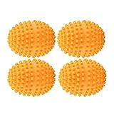 Rehomy Wiederverwendbare Trocknerbälle, Orange, 4 Stück