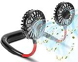 LVYE1 MRMF USB Portable Fan Cold Lüfter Hände Freier Nackenventilator Hängen Wiederaufladbare Mini Sport Fan 3-Gang Einstellbare Hals Dual Fan Home Office