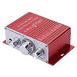 FOLOSAFENAR Auto-Auto-Verstärker, Musik-Player mit geringer Verzerrung Mini Strong Power für DVD MP3 für Musik-CD Music(red)